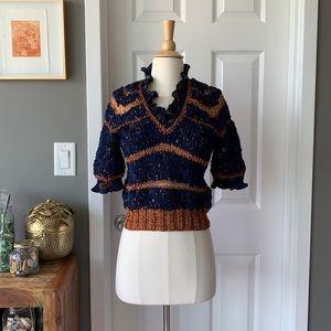 Vintage hand knit sweater vest top